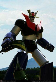 """Mazinger Z"" by Angel Nieves Gundam, Transformers, Foto 3d, Robot Cartoon, Big Robots, Japanese Robot, Alternative Comics, Days Manga, Vintage Robots"