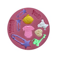 Fondant Cake Chocolate Sugarcraft Mold Silicone Baby Theme Mould Cutter Tools