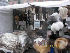 Fur stahl, open air market, Helsinki, Finland