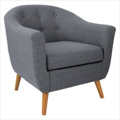 Rockwell Accent Chair in Grey