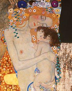 Gustav Klimt - Les trois âges de la femme (détail)