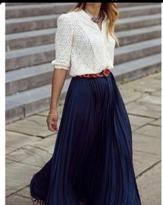 Maxi falda azul oscuro