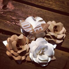 Recycled Paper Flowers  Large Roses  Eco Wedding  by BeHandmaiden, $18.00