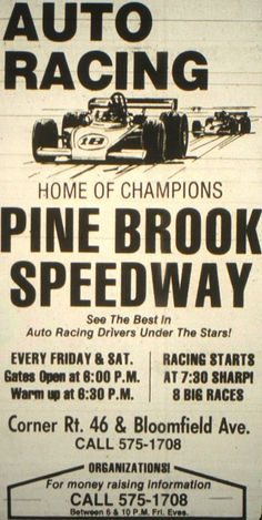My Lifelong Automotive Passions By: John E. Aibel: Pine Brook Speedway By: John E. Jersey Girl, New Jersey, Pine Brook Nj, Missing Home, Moving To Florida, The Good Old Days, Back In The Day, Old Photos, Growing Up