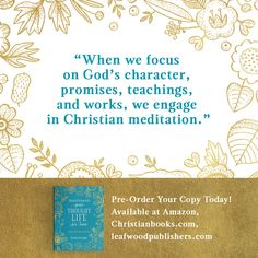 My book Transforming Your Thought Life for Teens: Renew Your Mind with God is available for preorder! Learn about preorder bonuses & more. Christian Meditation, Christian Women, Mindfulness, Teen, God, Thoughts, Learning, Life, Dios