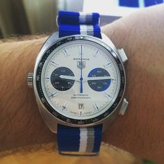 TAG Heuer Autavia Calibre 11 by @jpstepancic #tagheuer #tagheuerautavia #autavia #calibre11 Tag Watches, Cool Watches, Watches For Men, Tag Heuer Monaco, Actor Steve Mcqueen, Tag Heuer Automatic, Watch 2, Beautiful Watches