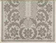 Filet Crochet Charts, Crochet Doily Patterns, Crochet Doilies, Embroidery Patterns, Cross Stitch Patterns, Crochet Table Runner, Crochet Tablecloth, Crochet Home, Knit Crochet