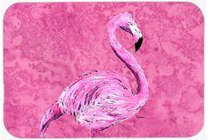 Flamingo on Pink Kitchen/Bath Mat