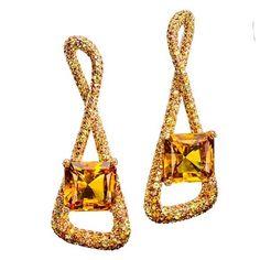 ✨Sparkling Earrings✨De Grisogono, Citrines, Diamonds✨ #jewels#jewelry#degrisogono#espritjoaillerie#patrimoinejoaillerie#patrimoine#jewelryaddict#joyeria#joyas#princess#earrings#friends#instajewelry#fabulous#luxe#luxurylife#citrine#diamonds#art#bijoux#design  @degrisogono
