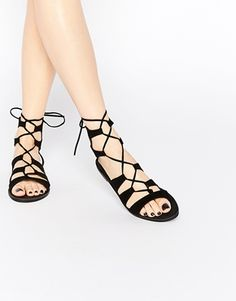 New Look Lace Up Flat Sandal Scarpe Col Tacco 91ff0303ea2