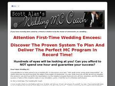 The Wedding Mc Workbook Wedding Mc, First Time, Success, How To Plan