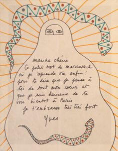 Yves Saint Laurent drawing 1977