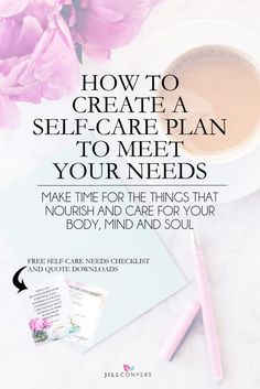 Self-care allows you to connect with, hear and eventually live from your truest self. Self-care helps you reclaim the energy that can be drained by day to day life. Use this the checklist to begin creating a self-care plan that meets your needs. There's no right or wrong answer and no judgement. Click through to download the free self-care checklist and motivational quote. Pin it now, read it later. @jillconyers http://jillconyers.com