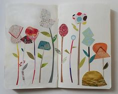 Like the simple lines of this collage, would look great in the play room