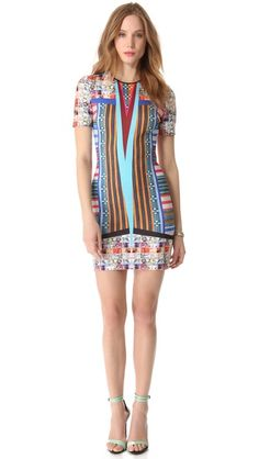 Bodycon Neoprene dress.  Clover Canyon Woven Pesos Dress