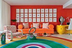 Um dúplex cítrico e pop em Miami - Apartamento reinterpreta os anos 1970 com vigor by Anthony Baratta
