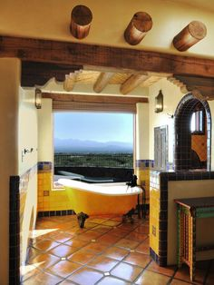 The cultural aspects of a Spanish-inspired home interior make it a popular choice among Americans. Whether you love a Southwestern or Old World Spanish look, these design ideas will help you incorporate Spanish-style flair into your home. Spanish Style Decor, Spanish Style Homes, Spanish House, Spanish Revival, Spanish Colonial, Spanish Modern, Spanish Bathroom, Spanish Style Bathrooms, Spanish Tile