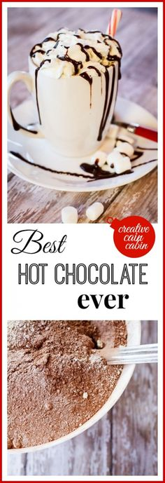 Best Ideas for chocolate drink recipes sweet treats Chocolate Caliente, Hot Chocolate Bars, Hot Chocolate Recipes, Lindt Chocolate, Chocolate Roulade, Chocolate Smoothies, Chocolate Mouse, Hot Cocoa Recipe, Chocolate Shakeology