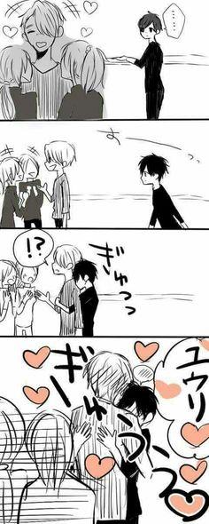 Yuri can grab Viktor's attention so quick