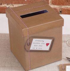 Hochzeit-Postbox - Hochzeitsdeko im Kraftpapier-Look