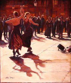 Flamenco, Trafalgar Square by Chris James  Copyright remains with the artist  #chrisjamesartist