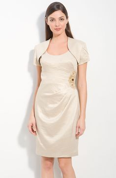 Adrianna Papell Metallic Crepe Sheath Dress & Bolero, Nordstroms $98...Mother of the Bride?