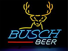 "NEON SIGN For BUSCH BEER Signboard REAL GLASS BEER BAR PUB display christmas Light Signs 17*14"" #Affiliate"