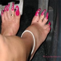 Y would  anybody do this? Shes got ugly feet to begin with!!!