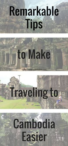 Traveling to the interesting country of #Cambodia soon? Make sure to read up on these remarkable tips to make traveling to Cambodia easier!   #travel #traveltips