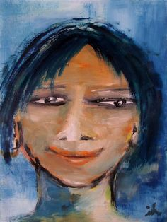Buy Female Face, oil on cardboard, 20 x 30 cm, framed, Oil painting by Ingrid Knaus on Artfinder. Discover thousands of other original paintings, prints, sculptures and photography from independent artists.