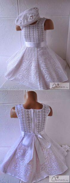 Платье филейка. | Платья крючком | Постила