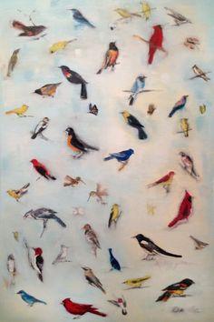 Blue Om, 60x46, oil on canvas, 2012 MARY ANN STRANDELL ©