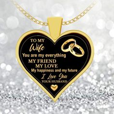 You Are My Friend, You Are My Everything, Great Gifts For Women, Birthday Gift For Wife, Dad Mug, Black Heart, Gifts For Wife, Necklace Lengths, I Love You