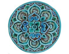 Mandala wall decoration made from ceramic – outdoor wall art – ceramic tile – mandala – turquoise - Ceramic Art Outdoor Wall Art, Outdoor Walls, Outdoor Decor, Ceramic Wall Art, Tile Art, Turquoise Wall Art, Handmade Tiles, Decorative Tile, My New Room