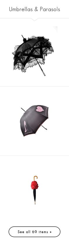 """""""Umbrellas & Parasols"""" by leanne-mcclean ❤ liked on Polyvore featuring accessories, umbrellas, gothic, extra, umbrella, fillers, halloween, autumn, black and fulton umbrella"""