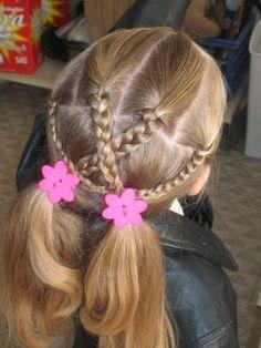 easy hairstyles for beginners Natural Easy Toddler Hairstyles, Work Hairstyles, Braided Hairstyles Tutorials, Little Girl Hairdos, Girls Hairdos, Crazy Hair, Cool Haircuts, Bad Hair, Hair Dos