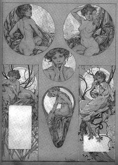Francis Vallejo   inspiration: alphonse mucha b.1860-1939