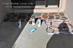 front door concrete makeover