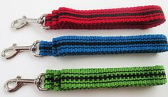 Handwoven Nylon Pet Leash Red Blue or Green. Inkle by MOEZADIAN