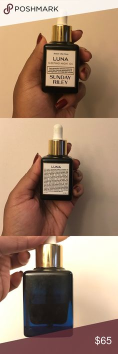 Half used Sunday Riley Luna Sleep Night Oil About a year old. Don't use it anymore. From Sephora. A nice way for someone to try it without paying full price. Open to reasonable offers, but I paid full price. I still own the box! Sephora Makeup