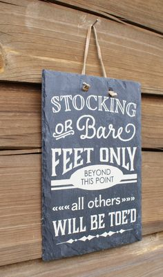 STOCKING or BARE FEET Only - Remove Your Shoes - Entryway Sign - Housewarming Gift - New Home Gift - Welcome Guests - House Rules #etsy #etsyretwt