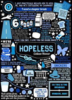 Book collage based on Hopeless by Colleen Hoover. Now that I'm all out of John Green books, I'm moving on to my next favourite author! Colleen Hoover's books are equally as amazing. If y'all haven't read Hopeless yet, I would totally recommend it :) P.S Yes, there is a typo in this, but it's intentional.