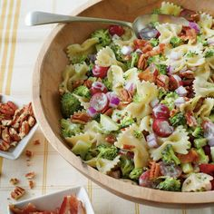 If you're a broccoli salad fan, you'll love the combination of these colorful ingredients. Cook the pasta al dente so it's firm enough to...