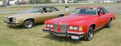1975 Pontiac Grand Prix   ... Meet, but someinteresting visitors were two 1976 PontiacGrand Prix