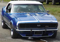 1968 Chevrolet Camaro Convertible SS 396 - Blue