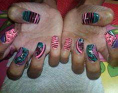 Zebra Nail Designs | exotic Zebra & cheetah - Nails Style Photo Gallery | nailsstyle.com