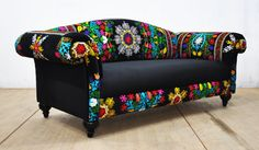 Funky painted furniture, Funky home decor, Patchwork furniture, Boho couches, Fu. Diy Furniture Couch, Upholstered Furniture, Furniture Makeover, Furniture Design, Furniture Cleaning, Funky Painted Furniture, Colorful Furniture, Unique Furniture, Furniture Ideas