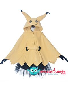 Cosplay Anime Costume Pokémon Pikachu Mimikyu Halloween Cloak Dress Costume for Adults - Pokemon Cosplay, Anime Cosplay, Pokemon Costumes, Cosplay Diy, Cosplay Dress, Cosplay Outfits, Anime Outfits, Costume Dress, Cool Outfits