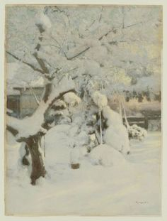 Yoshida Hiroshi, Garden in Snow, Japanese, Early 20th century.