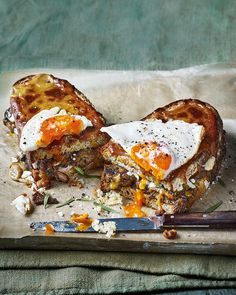 We've put an updated twist on Welsh rarebit with this mushroom, tarragon and fried egg toastie. You can swap the cheddar for any cheese you prefer too.